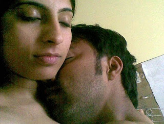 Horny Pakistani college couple kissing after hot sex session pics 2