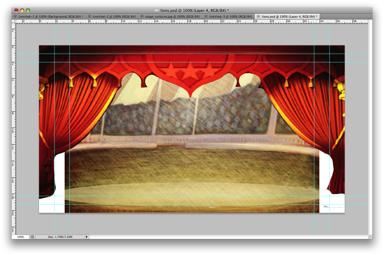 Creating a Set inside the circus tent. & Design Context: Creating a Set inside the circus tent.