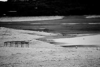Under side out the drought of medina lake for Medina lake fishing