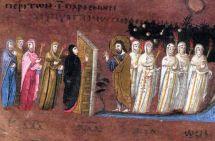 Ilustración de esta parábola recogida en un códice bizantino del siglo VI (Codex Purpureus Rossanensis)