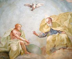 La Santísima Trinidad, Luca Rossetti da Orta, fresco, 1738-9, Iglesia de San Gaudenzio en Ivrea (Torino)