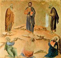La Transfiguración del Señor. Duccio di Buoninsegna (1308-1311)