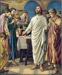 Ilustración que muestra a Jesús hablando a sus discípulos