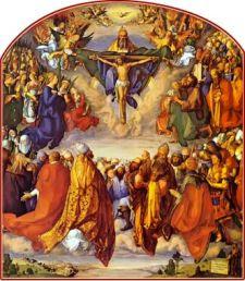 Adoración de la Santísima Trinidad o Retablo de Todos los Santos. Alberto Durero, 1511