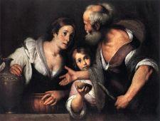 Elias y la Viuda de Sarepta. Bernardo Strozzi. 1630