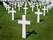 Cruces en un cementerio
