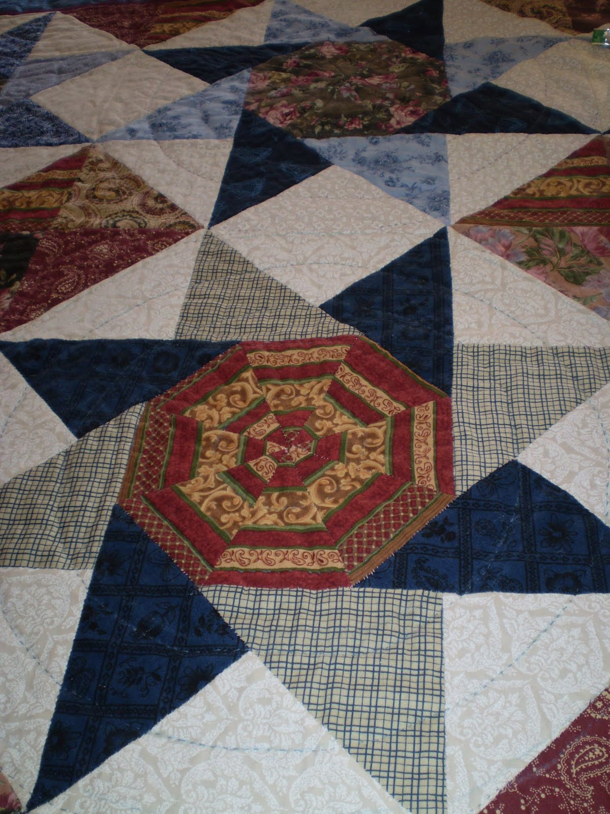 Vicki 39 s blog living life a day at a time quilting for Jake quilted bedding