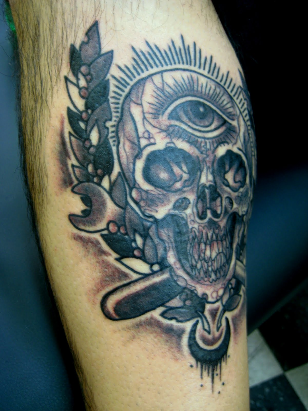 Piston and wrench tattoo images for tatouage for Piston and wrench tattoo