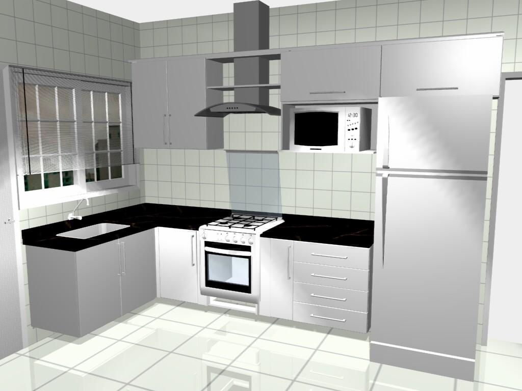 Cozinha Simples Com Janela Beyato Com V Rios Desenhos Sobre