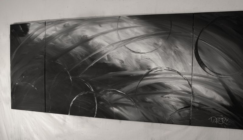 black and white artists paintings. Labels: mood grey art painting