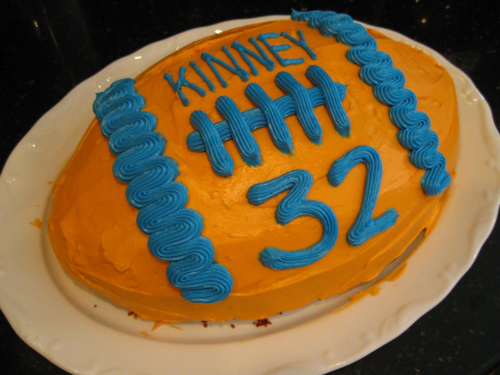 Let Them Eat Cake Football Cake