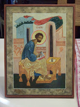 St. Mark the Apostle at his desk