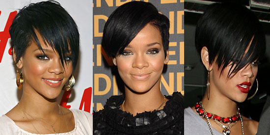 rihanna hairstyle in take a bow