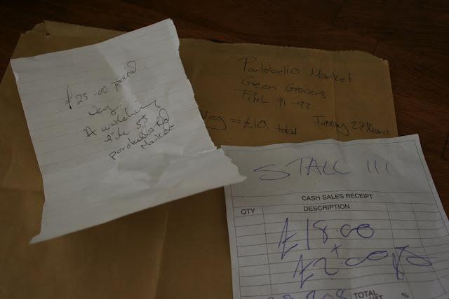 Bills from Portobello rd market