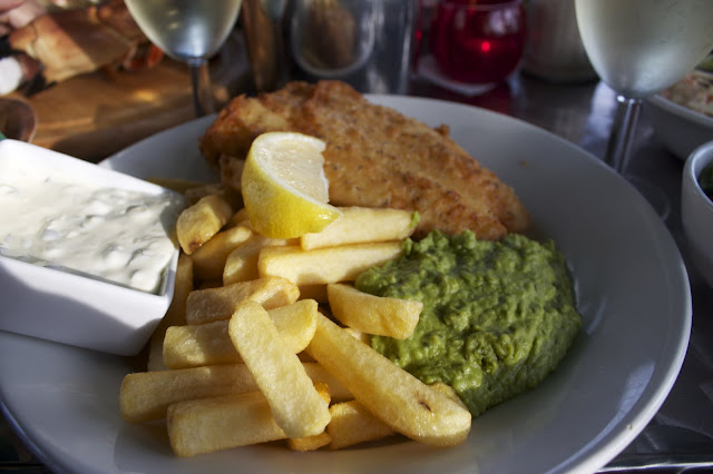 fish n chips,  The Hive beach cafe, Dorset