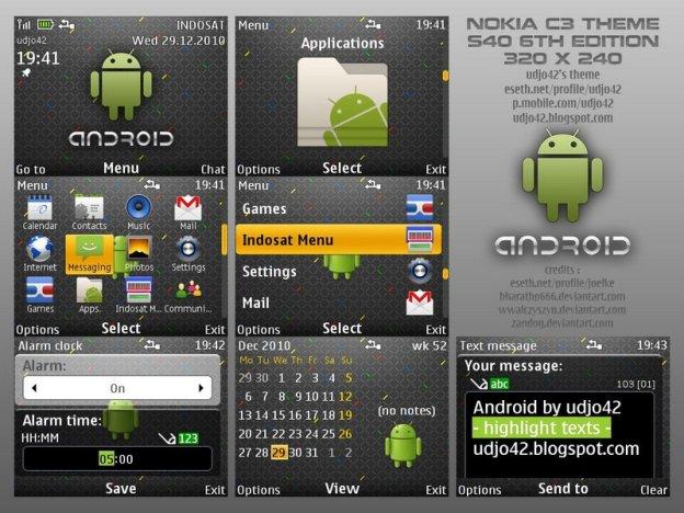 Tema android para s40 nokia c3