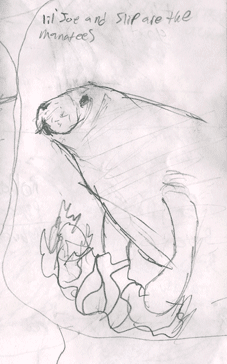 Sketch of the Manatee made by Matthew Riccetti at the Cincinnati Zoo in 2009.