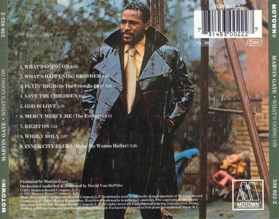 the musical album of marvin gaye called whats going on Singer marvin gaye performs on opening night at radio city music hall, may 17,   during the decade, his catalog included the epic opus what's going on  they  gave him two drum machines, a synthesizer called a roland.