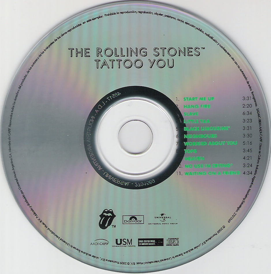 musicotherapia the rolling stones you 1981
