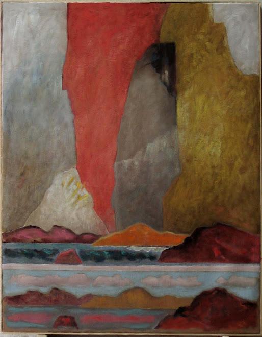 150 tableaux ou oeuvres sur papier retracèrent l'itinéraire de ce peintre. Huelgoat, été 2009