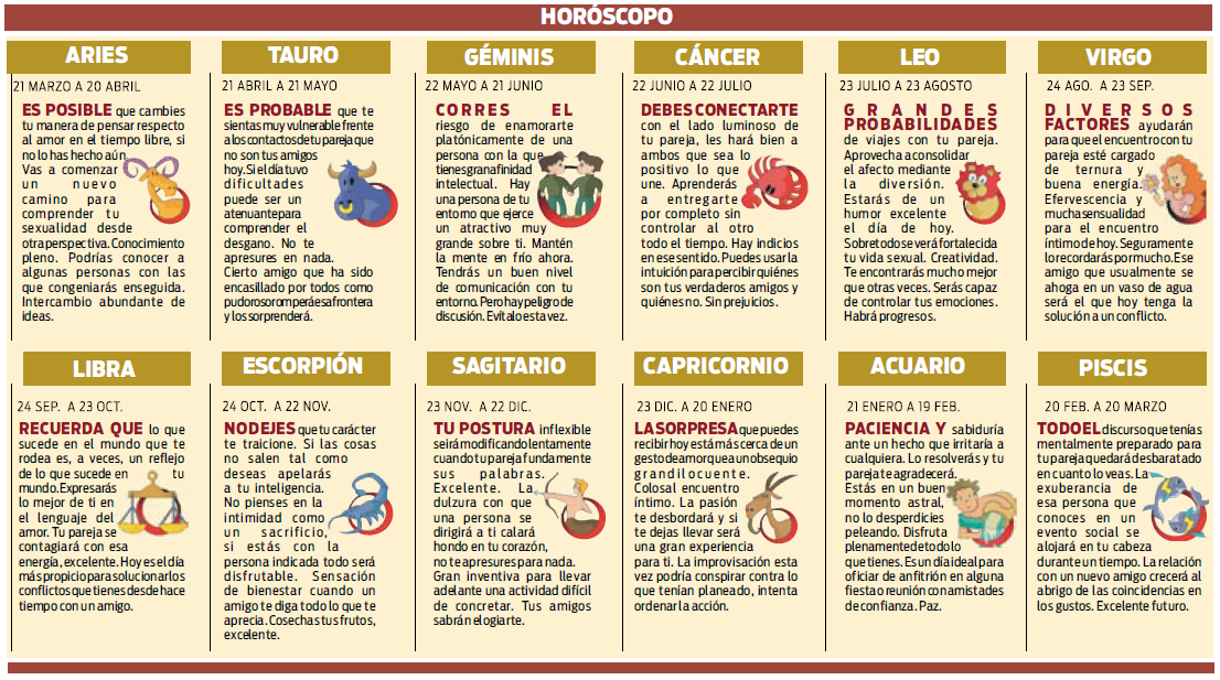 horoscopos de esperanza gracia: