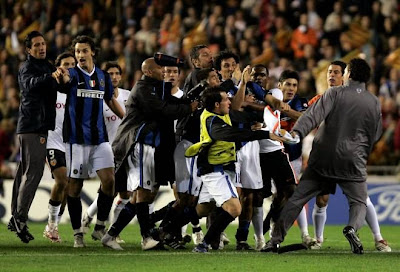 football Soccer Valencia vs Inter Milan UEFA