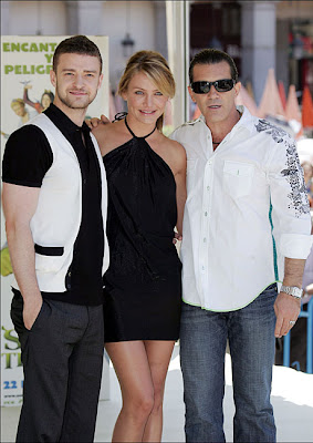 Cameron Diaz, Justin Timberlake and Antonio Banderas