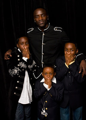 Akon with children