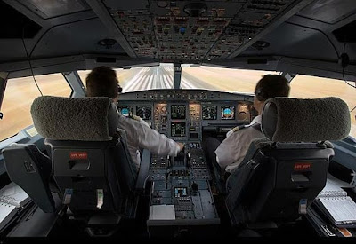 Photos in the cabin of the aircraft