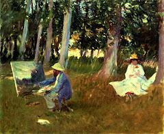 Monet pintando ao vivo