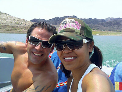 Johnny and Daly at Lake Mead launch ramp