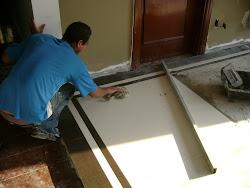Modificando piso sala