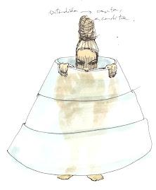 Vestido concéntrico o vaso