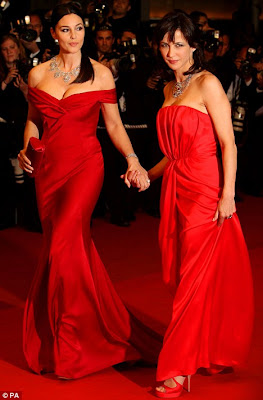Monica Bellucci and Sophie Marceau Wear Matching Gowns in Cannes