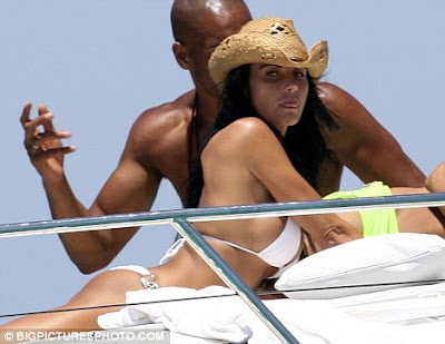 Katie Price in hot white bikini partying in Ibiza id=