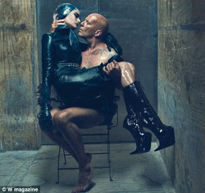 Bruce Willis & hot Emma Heming Steamy Photoshoot for S&M Club