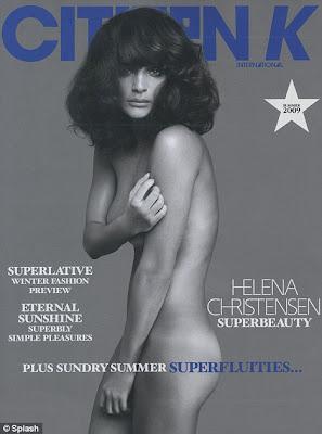 Helena Christensen Nude Photo Shoot for French magazine Citizen K