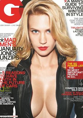 Hot January Jones Posed for Men's Magazine GQ