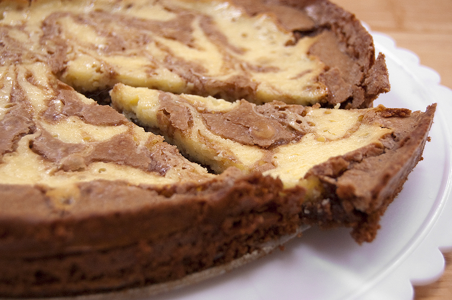 CaffeIna: Baking with Carla: Cream Cheese Brownie Cake