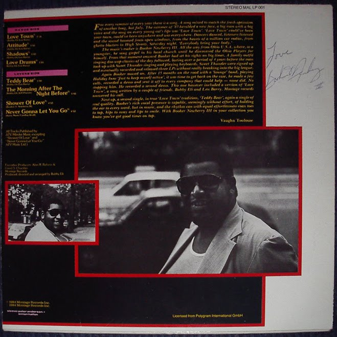 Booker Newbury III - Love Town 1983 - Signature 1