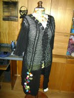 chaleco negro bordado