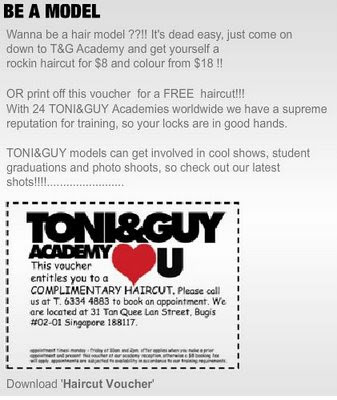 Free Hair Cut In Singapore From Tony And Guy A Cup Of Milk