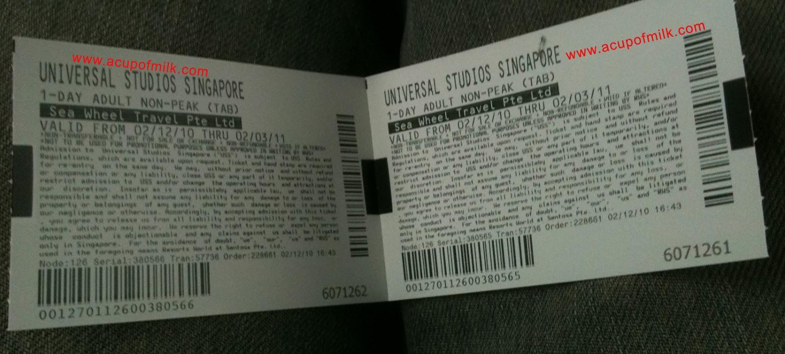 Universal studios singapore coupons