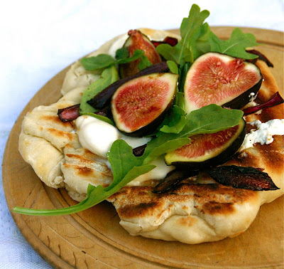 : Recipe: Grilled Pizza with figs, freshwater mozzarella, goat cheese ...