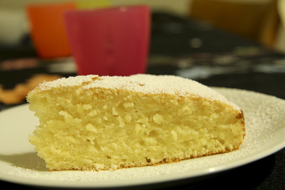 Ricotta kuchen mit zitrone
