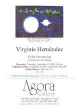 """COLOR IMMERSION"" Virginia Hernàndez en colectiva en AGORA GALLERY, NY"