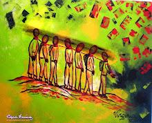 HOMENAJE A LOS MILITARES Y POLICIAS SECUESTRADOS POR LAS FARC, Acrilico 2009