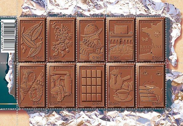 Francia - Sellos chocolate 2009