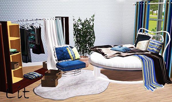 mod the sims 3 by bozena sypialnia romantyczna na lit
