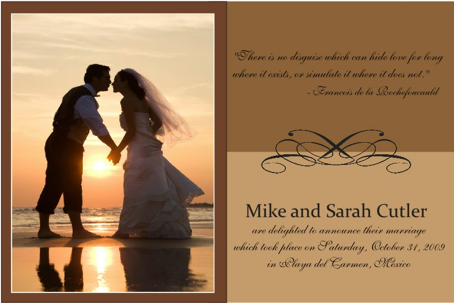 Defining Moments Marriage Announcement Photo Card